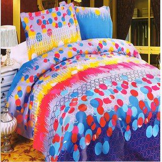 Welhouse India  Polycotton Geometric Design Double Bed Sheet