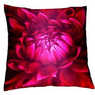 Lushomes Digital Printed Lotus Cushion Cover on Ultra Premium Whiteout Fabric