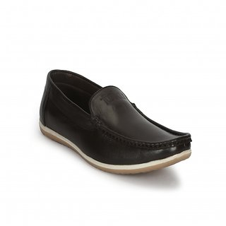 Funku Fashion Smart Brown Leather Loafers