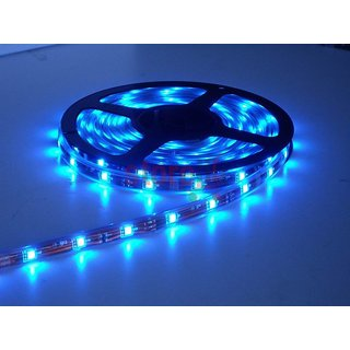 5 Meters Blue Cuttable Non Water proof Led Lights Strip Roll For Car/Bikes/Decoration