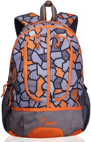 F Gear Dropsy 3D P Orange Casual Backpack Bag