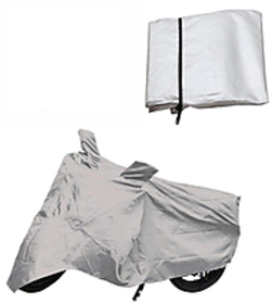 BIKE BODY COVER FOR BAJAJ PULSER 150 CC SILVER COLOR