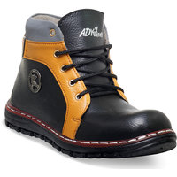 Adybird Men's Black Lace-Up Boots