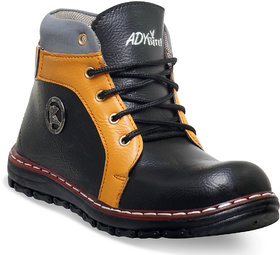 Adybird Men's Black Lace-Up Boots