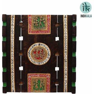 Indikala Exquiste Dhokra and Warli Work Wall Dcor (IK-01-354)