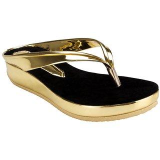 Nshell Golden-Platform-Heels