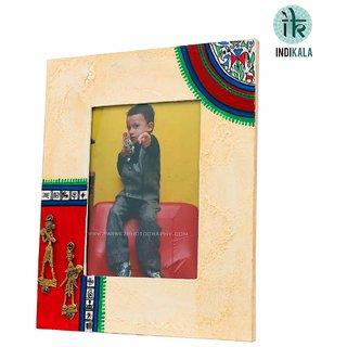 Indikala Warli and Dhokra Work Photo Frame (IK-01-356)