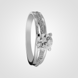 Stunning Solitaire Sterling Silver Engagement Ring 3sw15926a5