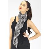 Miss Chase Black And White Houndstooth Snood