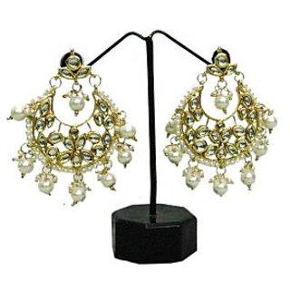 Belladonna Kundan pearl drop earring