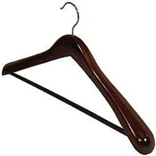 Home Basics 8 pcs Wooden Hangers FOR COATS, SUITS, JACKETS  BROAD SHOULDER