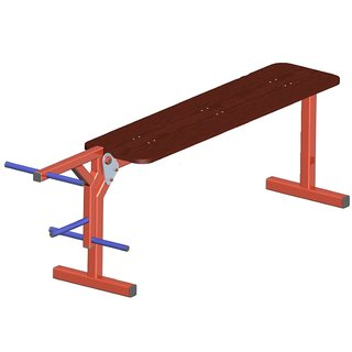 Flat Bench with leg Weight