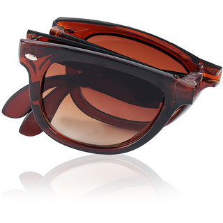 Aoito Folded Brown Wayfarer Sunglasses.