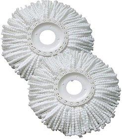 White Microfibre Plastic Mop