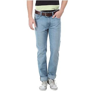 Swank Stylish Jeans For Men's Sky Blue Blue Skj 2204