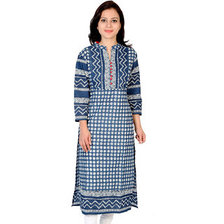 Ridan Cotton Navy Blue Kurti