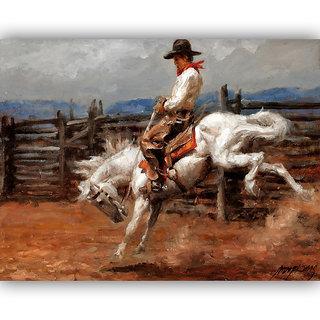 Vitalwalls Portrait Painting Canvas Art Print.Western-353-45cm