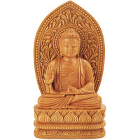 Recrafto Wooden Brown Lord Buddha Meditation Position