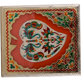 Shreeng Handicraft 10x9 Golden Meena Dry Fruit/ Multipurpose Box  (23cmX25cmX7cm)