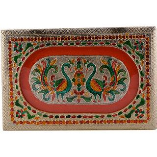 Shreeng Handicraft 12x8 Golden Meena Dry Fruit/ Multipurpose Box  (20cmX30cmX7cm)