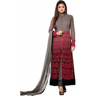 Isha Enterprise Different Designer Long Gray Colour Salwar Kameez
