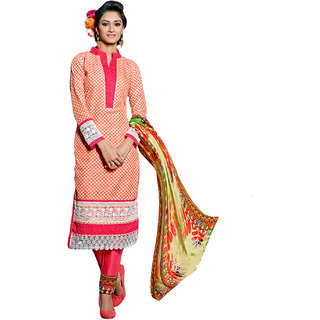 Surat Tex Pink Color Designer Embroidered Cotton Jacquard Semi-Stitched Salwar Suit-E288DL10000SA