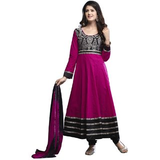 Surat Tex Pink Color Casual Wear Embroidered  Semi-Stitched Salwar Suit-G436DL3003SA