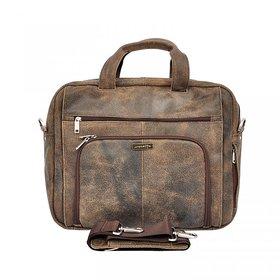Ronetto Elegant Genuine Leather Business  Laptop Bag For Men