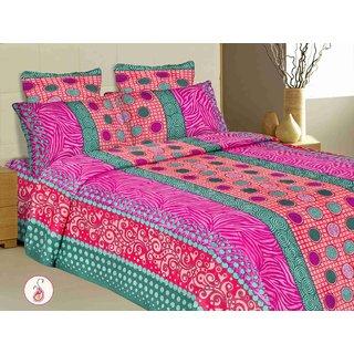 Shop Haryana Set of 2 Cotton Dubile Bed Sheets