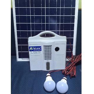 Solar home lighting system dc 12v 4 led bulbs table fan for 12v dc table fan price