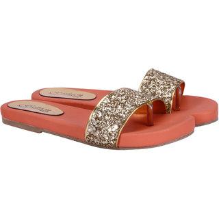 Fashion Mafia Women's Orange Flats