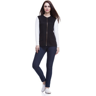 Black Jacket With Quilted Sleeves
