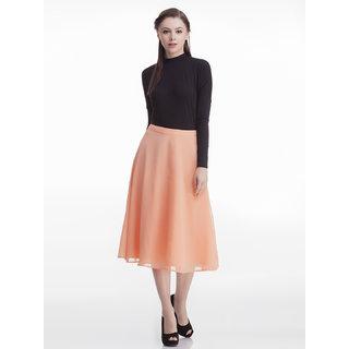 Peach Semi Circular Skirt