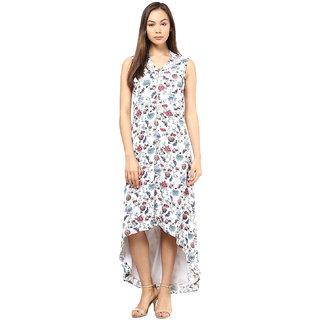 Printed Hi Low Zip Up Dress