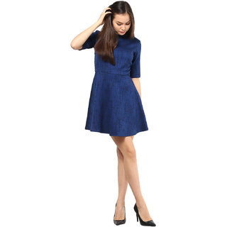 Jacquard Fit & Flare Dress