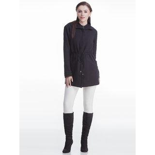 Black Long Hooded Jacket