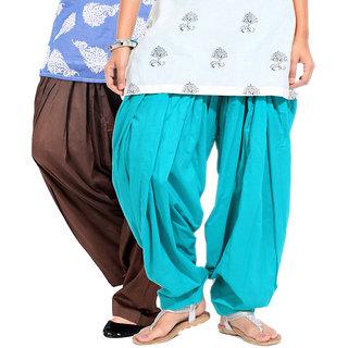 BrandTrendz Conspicuous Set of 2 Cotton Patiyala Salwar