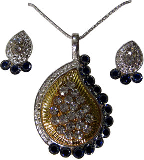 Akshat Rajasthani Designer Pendant Set with Austrian Diamond