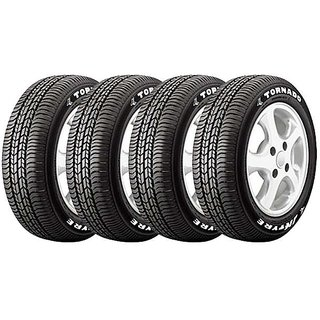 JK Tyres - TORNADO - 165/80 R-14 - Tubeless (Set of 4 Tyres)