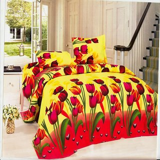 Double Bed Sheet with 2 Pillow Cover