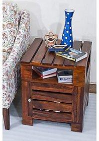 Sheesham Wood Planko Teak Side Table