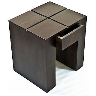 Sheesham Wood Cento Walnut Side Table