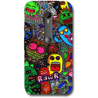 Cell First Designer Back Cover For Motorola Moto G (3rd Gen.)-Multi Color