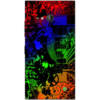 Cell First Designer Back Cover For Microsoft Lumia 730-Multi Color