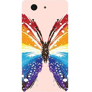Casotec Butterfly Abstract Colorful Pattern Design Hard Back Case Cover for Sony Xperia Z3 Mini