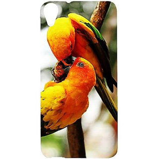 Casotec Love Birds Design Hard Back Case Cover for HTC Desire 820