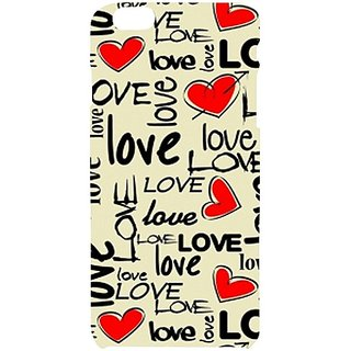 Casotec Love Hearts Design Hard Back Case Cover for Apple iPhone 6 Plus