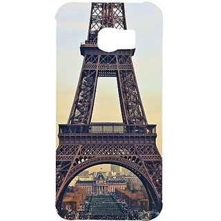 Casotec Eiffel Tower Design Hard Back Case Cover for Samsung Galaxy S6