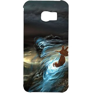 Casotec Ghost In Darkness Design Hard Back Case Cover for Samsung Galaxy S6