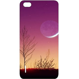 Casotec Moon View Design Hard Back Case Cover for Huawei Honor 6
